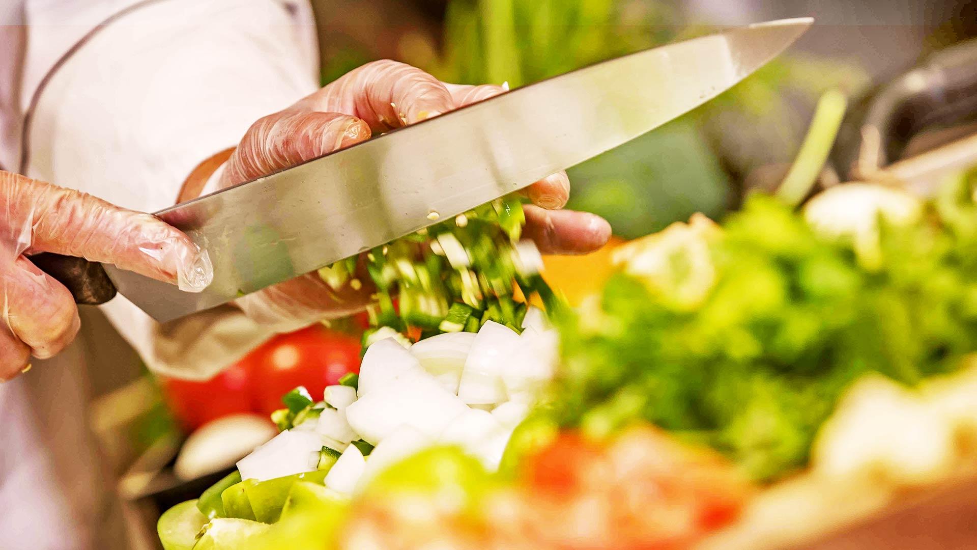photo of fresh chopped vegetables